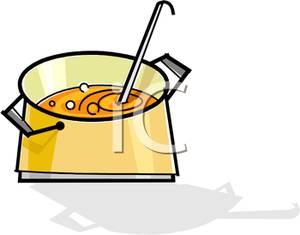 300x235 Clip Art Image A Ladle In A Soup Pot