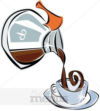 351x388 Coffee Pot Clipart