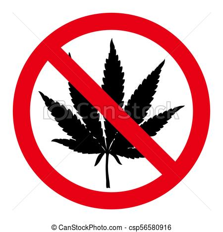 450x470 Hand Drawn Marijuana Leaf Stop Sign. No Drugs Red Sign. Hand