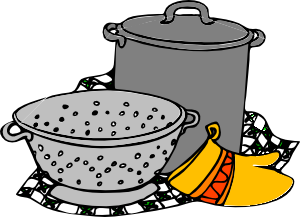 300x217 Cooking Pans Glove Clip Art