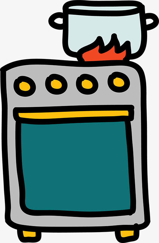 512x779 Kitchenware, Pots And Pans, Oven, Flames Png Image And Clipart