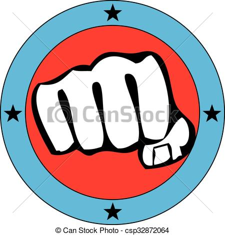 450x470 Power Fist Mma, Karate, Boxing Logo Clip Art Vector