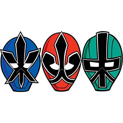 425x425 Power Rangers Samurai Paper Masks (8) (Multi Colored
