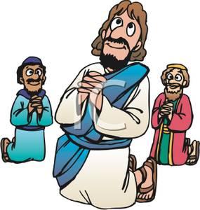 285x300 Jesus Praying Clipart
