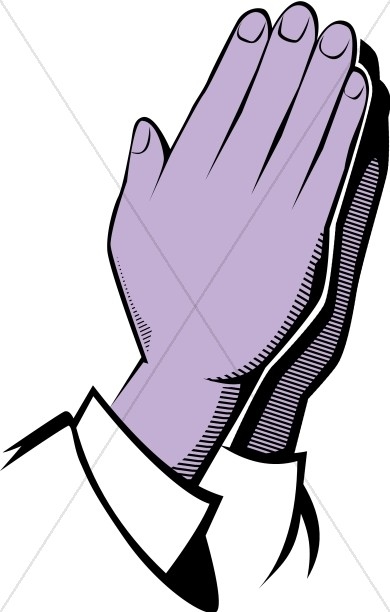 390x612 The Simple Prayer Hands Prayer Clipart