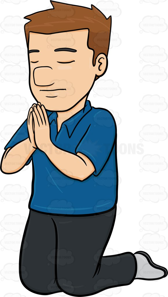 581x1024 praying hands Clipart Vector Toons