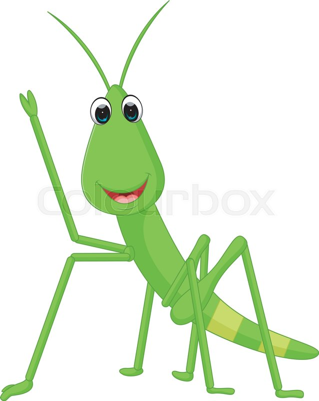 638x800 Illustration Of Praying Mantis Grasshopper Cartoon Stock Vector