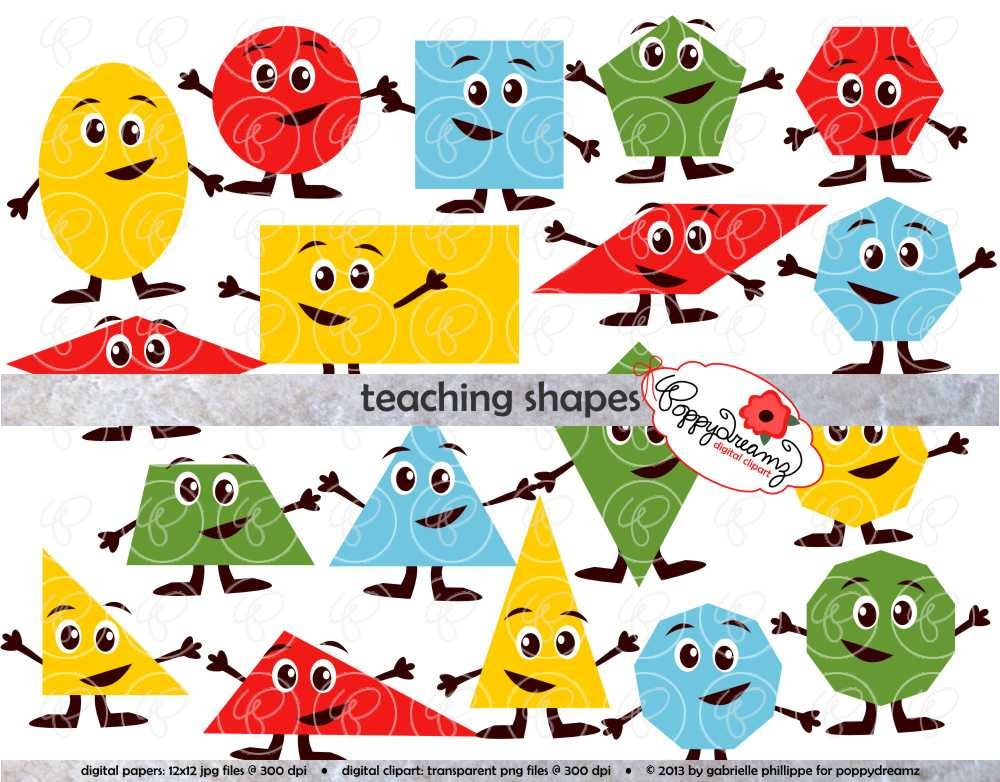 1000x782 Teaching Shapes Flashcards And Clipart
