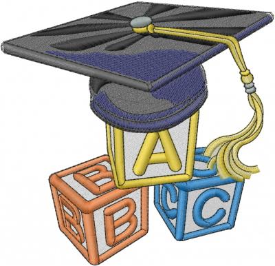 400x386 Preschool Graduation Embroidery Designs, Machine Embroidery