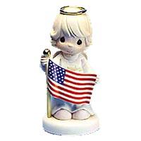 200x200 Precious Moments Patriotic Clip Art