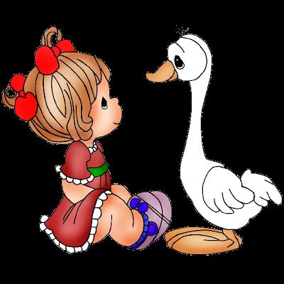 400x400 Christmas Clip Art Cartoon Baby Animals Funny Girl Clipart
