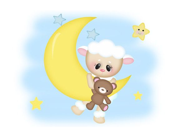 570x440 Evening Clipart Baby Moon