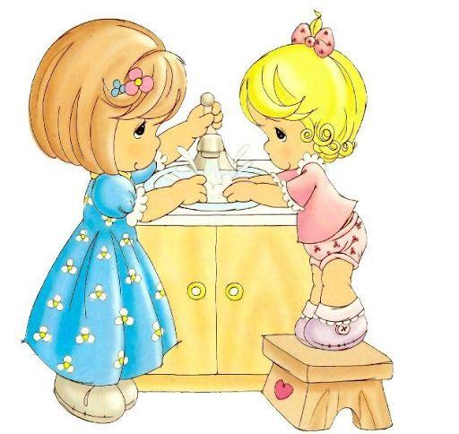 512x484 Washing Hands Precious Moments Precious Moments