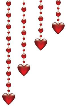 236x372 Hanging Hearts Png Clip Art Image All Hearts.