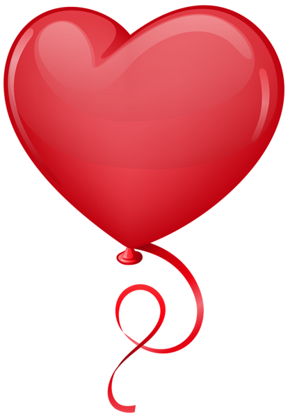 414x600 Red Heart Balloon Clip Art Png Image Valentines Clip