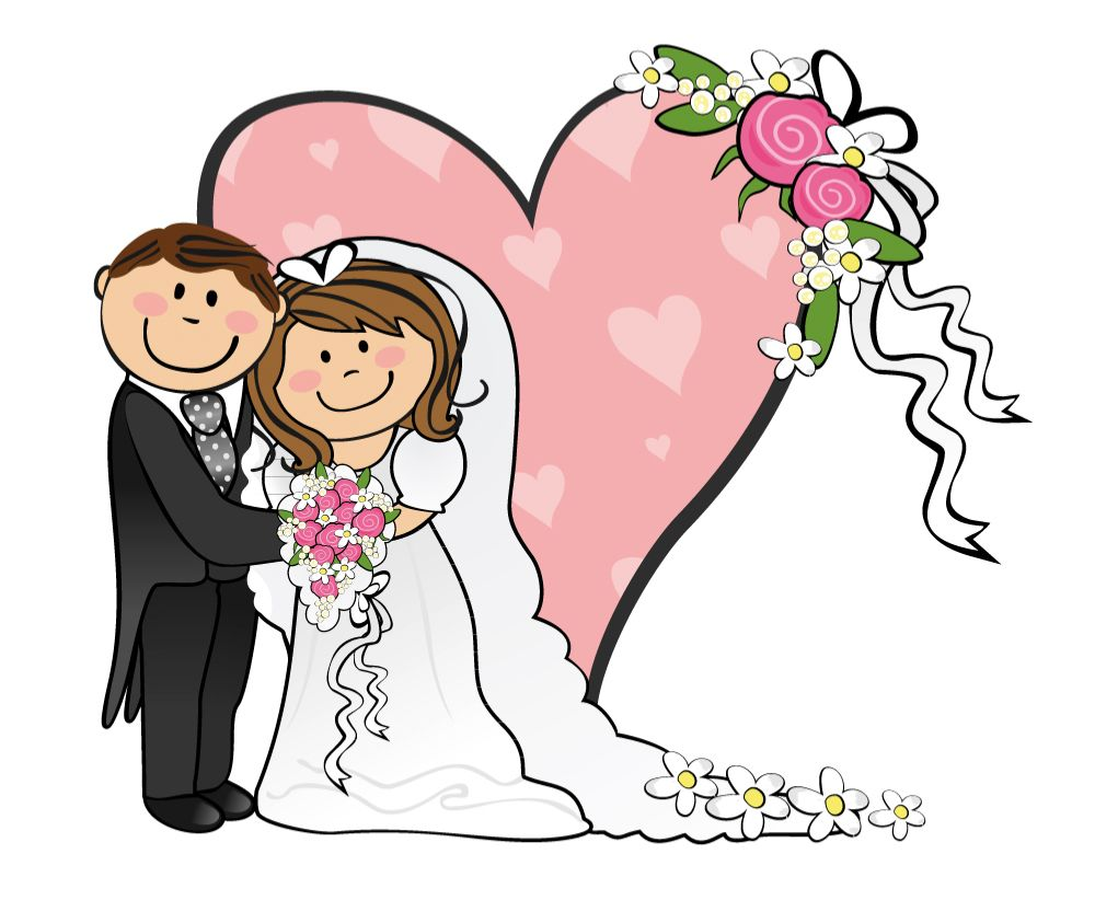 1000x833 Cartoon Funny Bride And Groom