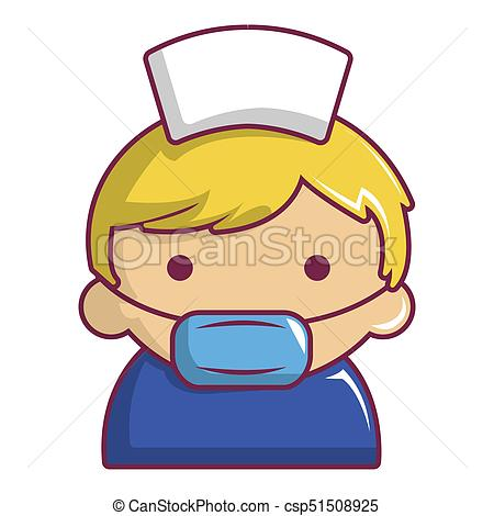450x470 Pregnant Nurse Icon, Cartoon Style. Pregnant Nurse Icon . Clip