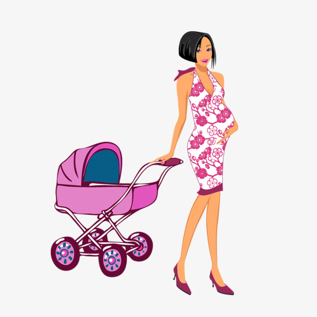 650x651 Pregnant Mother Pushing Stroller, Pregnant Mother, Stroller