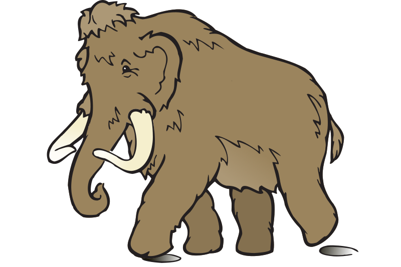 800x533 Free Clipart Wooly Mammoth Eady