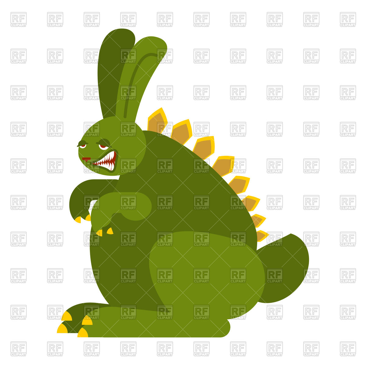 1200x1200 Prehistoric Rabbit Dinosaur. Dino Bunny. Raptor Hare Monster
