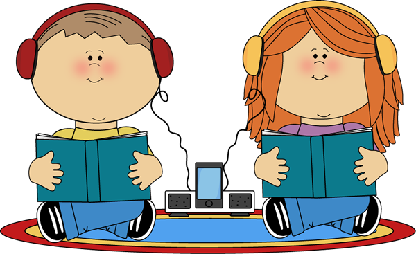 600x367 Kids Listening To Books From Mycutegraphics School Kids Clip Art