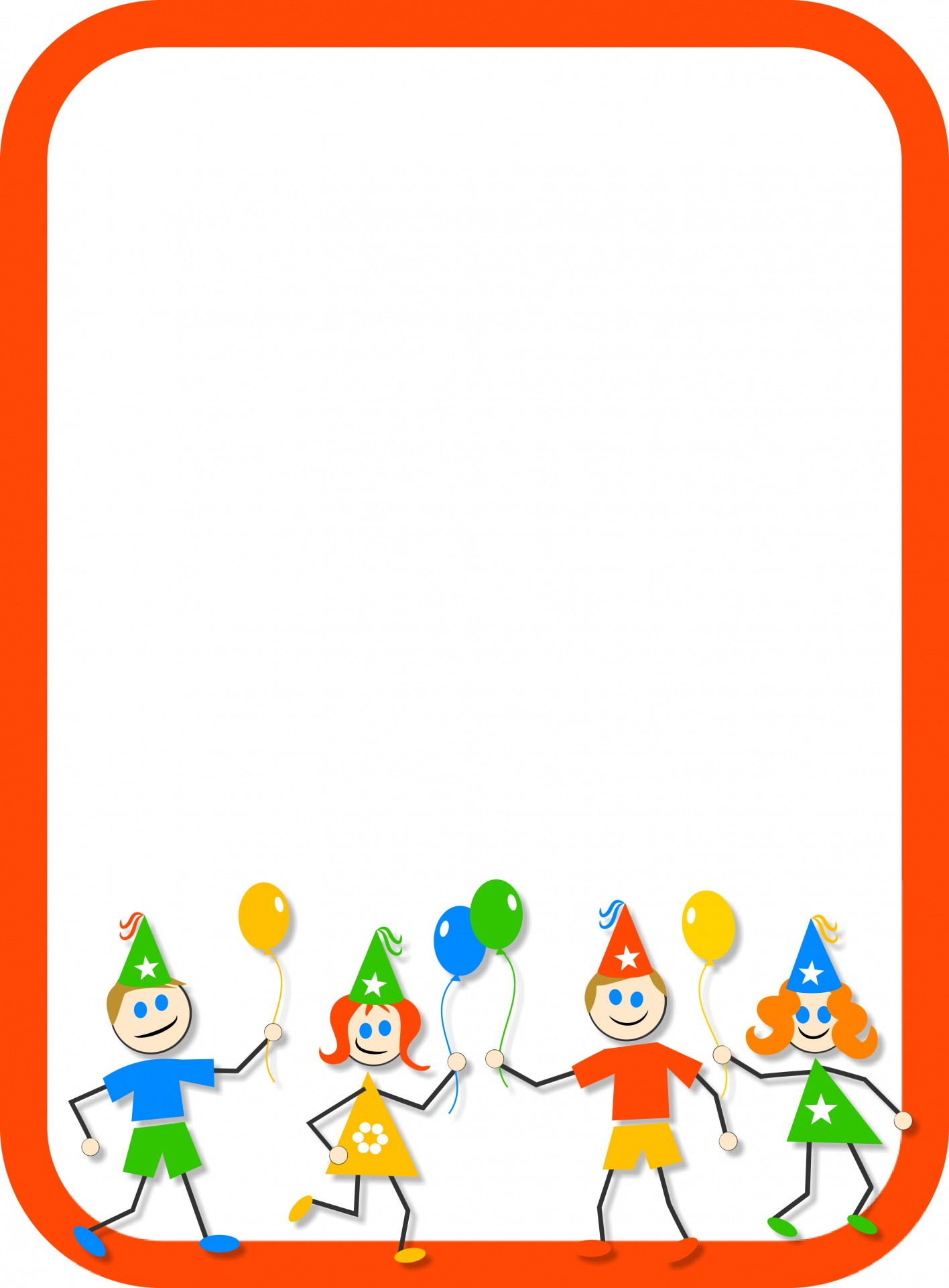 1416x1920 Easter Cliparts Frame