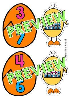 242x350 Preschool Easter Activities Kindergarten (Number Pairs To Make 10)