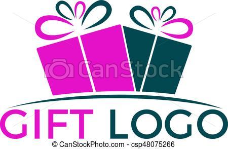 450x294 Gift Vector Logo Design. Illustration Of Gift Box Present, Clip