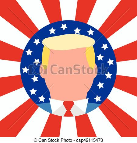 450x470 New Usa President. American Flag Background. New Usa Vectors
