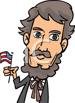 255x350 4th Of July Cartoon Of Abraham Lincoln