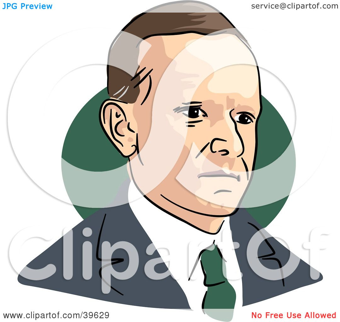 1080x1024 Clipart Illustration Of American President Calvin Coolidge By