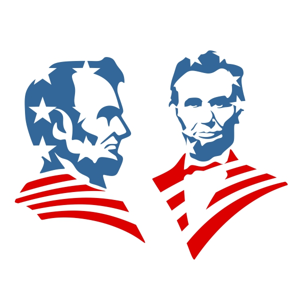 600x600 Abraham Lincoln Cuttable Design