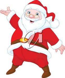 249x300 Clipart Image Of A Happy Santa Claus