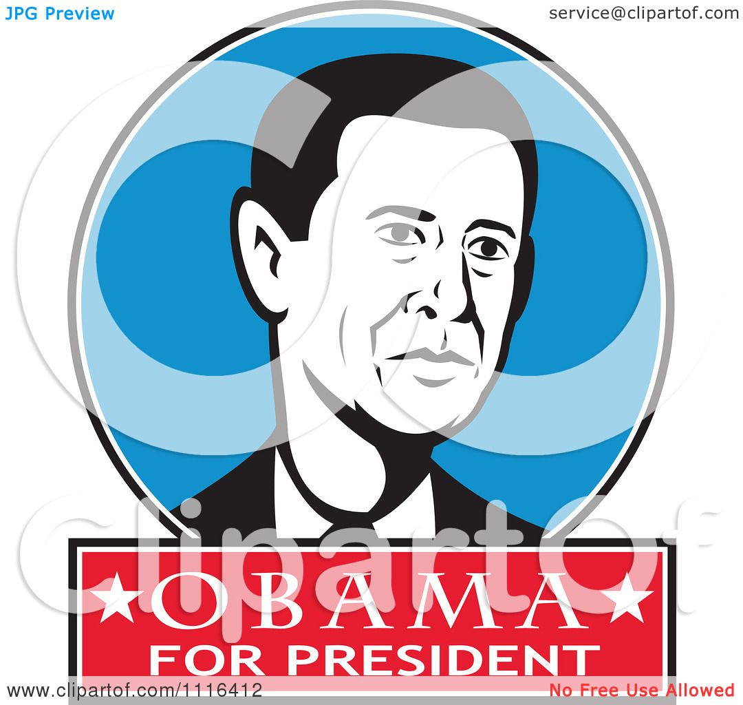 1080x1024 Clipart Retro President Barack Obama Portrait In A Blue Circle