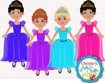 340x270 Little Princess Girls African Girls Clip Art Designer