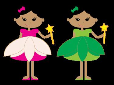 375x281 Twin Pretty Princesses Clipart Meylah