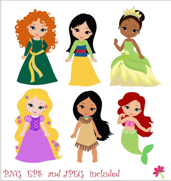 570x604 Baby Princess Clipart