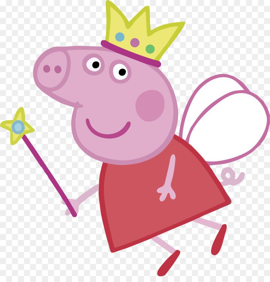 900x940 Daddy Pig Princess Clip Art
