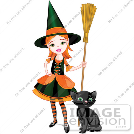 Pretty Witch Clipart