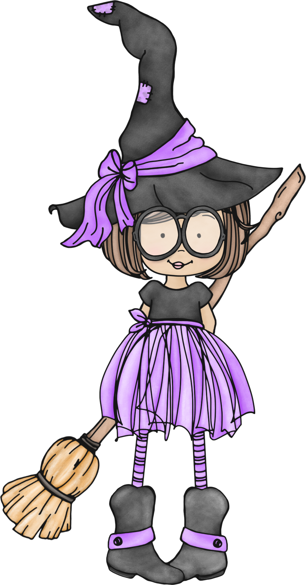 1302x2492 Witch.quenalbertini Cute Little Witch With Glasses
