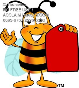270x300 Clipart Illustration Cartoon Bumble Bee Or Honey Bee Holding