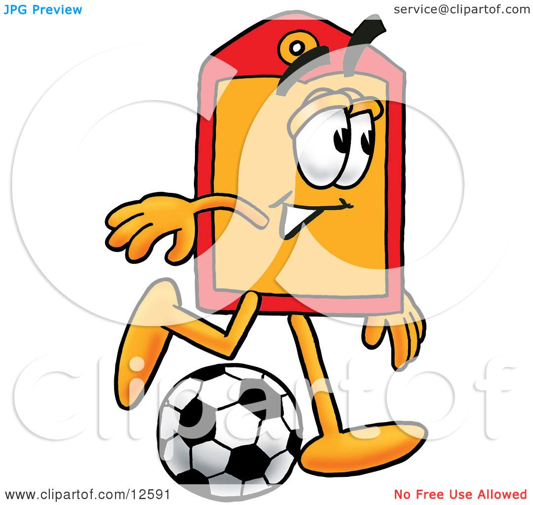 1080x1024 Clipart Picture Of Price Tag Mascot Cartoon Character Kicking