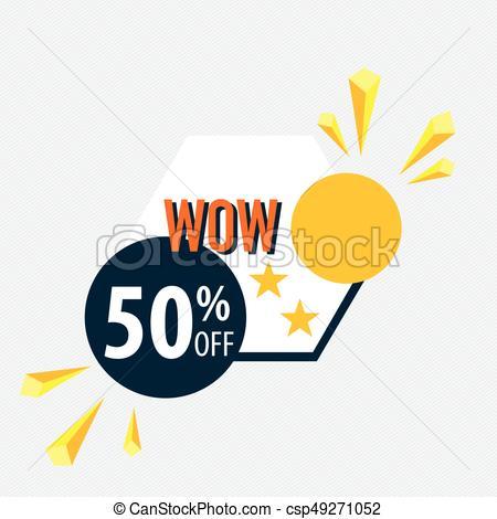 450x470 Sale Label Price Tag Template Design. Vector Illustration. Clipart