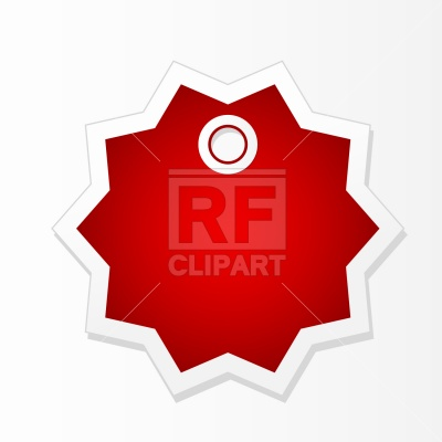 400x400 Star Shape Price Tag Royalty Free Vector Clip Art Image