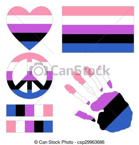 450x470 Genderfluid Pride Design Elements. Genderfluidpride Flag