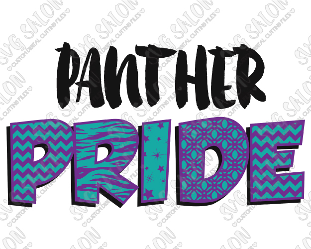 625x500 Panther Pride Patterned Chevron, Star, Zebra, And Quatrefoil