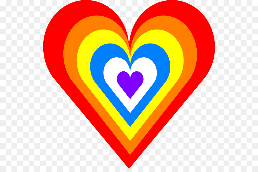 900x600 Rainbow Heart Computer Icons Clip Art