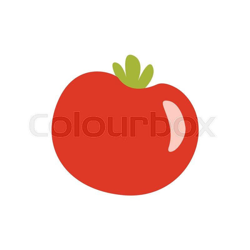 800x800 Fresh Red Glossy Tomato Vegetable Primitive Cartoon Icon, Part