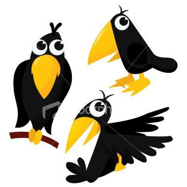 380x380 Primitive Crow Clipart
