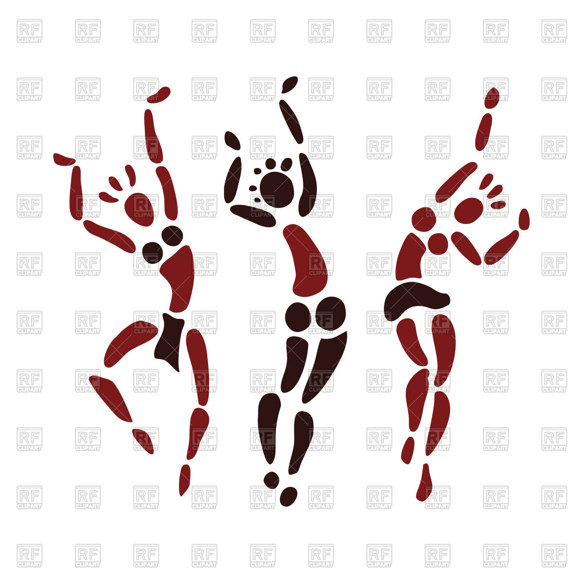 1200x1200 Silhouettes Of African Dancers Royalty Free Vector Clip Art Image